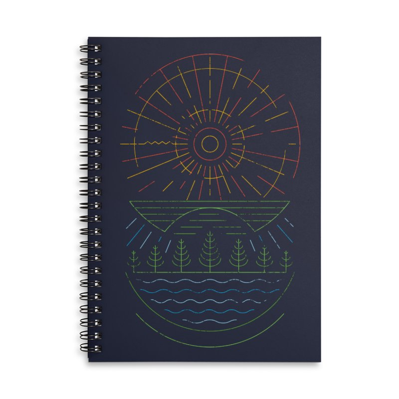 Summer Sun Accessories Lined Spiral Notebook by heavyhand's Artist Shop