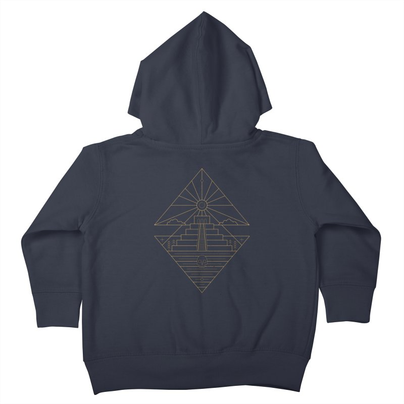 The Sun God Temple Kids Toddler Zip-Up Hoody by heavyhand's Artist Shop