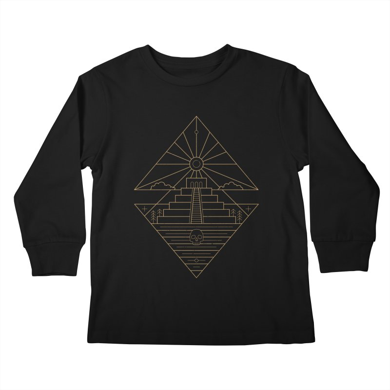 The Sun God Temple Kids Longsleeve T-Shirt by heavyhand's Artist Shop