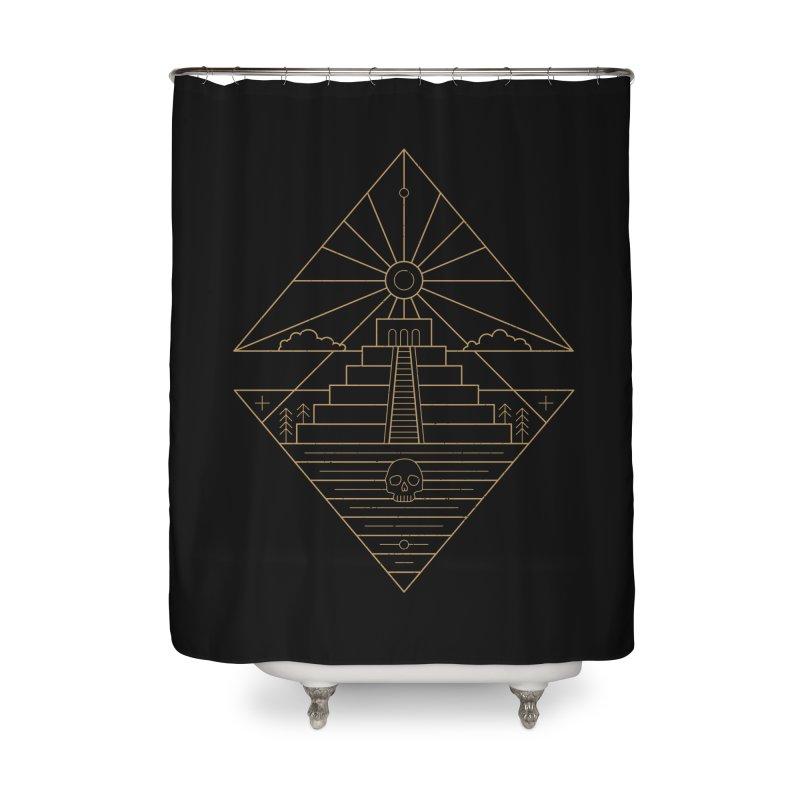 The Sun God Temple Home Shower Curtain by heavyhand's Artist Shop