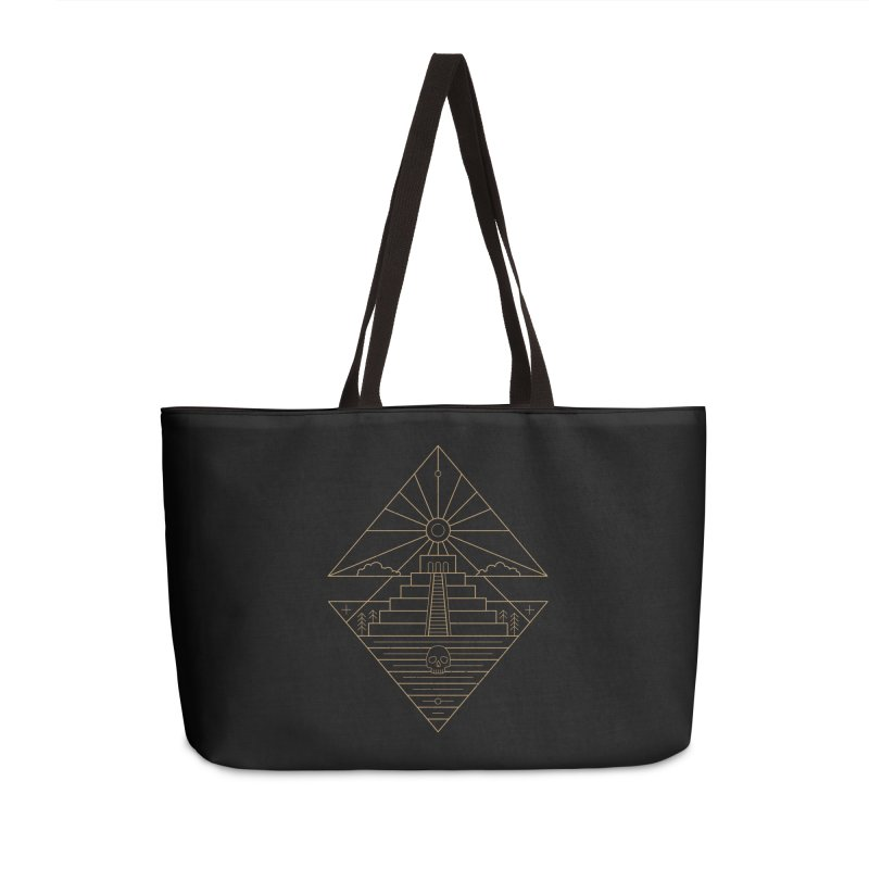 The Sun God Temple Accessories Weekender Bag Bag by heavyhand's Artist Shop