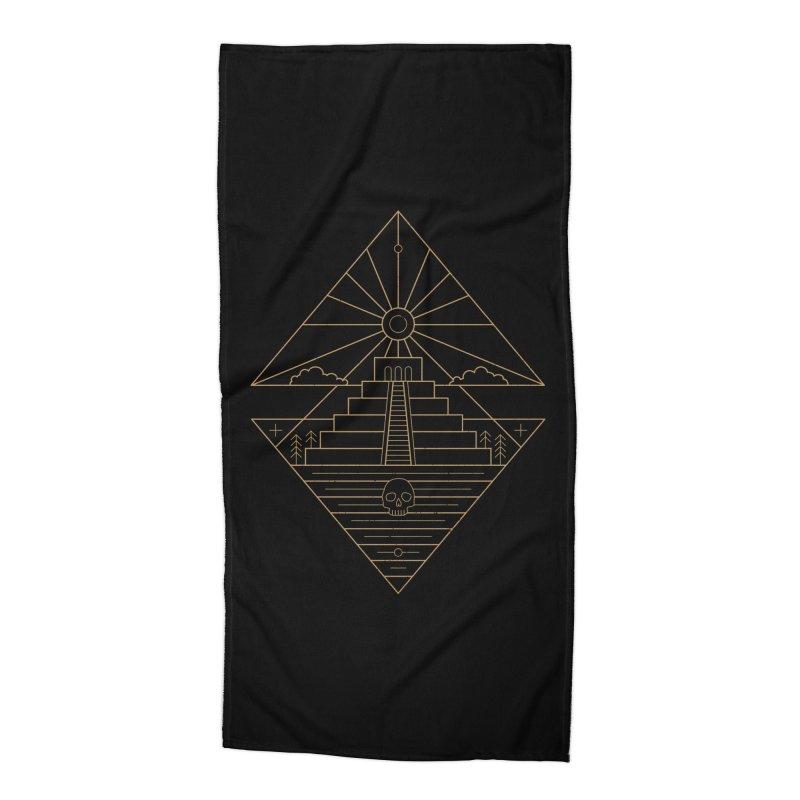 The Sun God Temple Accessories Beach Towel by heavyhand's Artist Shop