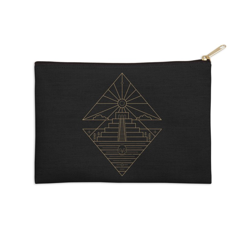The Sun God Temple Accessories Zip Pouch by heavyhand's Artist Shop