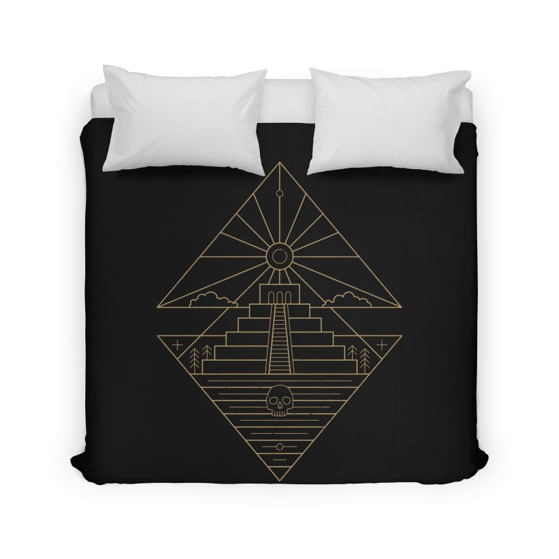 The Sun God Temple Home Duvet by heavyhand's Artist Shop