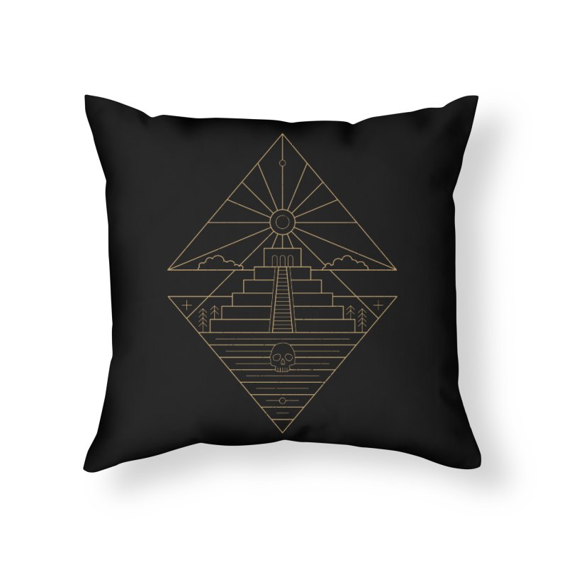 The Sun God Temple Home Throw Pillow by heavyhand's Artist Shop