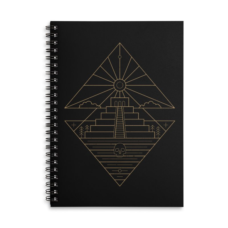 The Sun God Temple Accessories Lined Spiral Notebook by heavyhand's Artist Shop