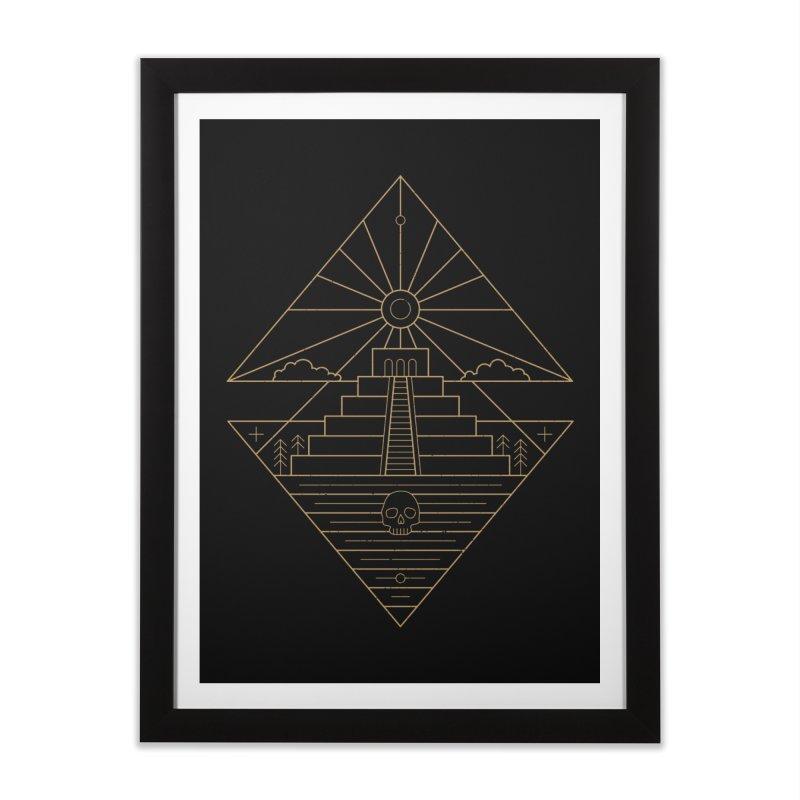 The Sun God Temple Home Framed Fine Art Print by heavyhand's Artist Shop
