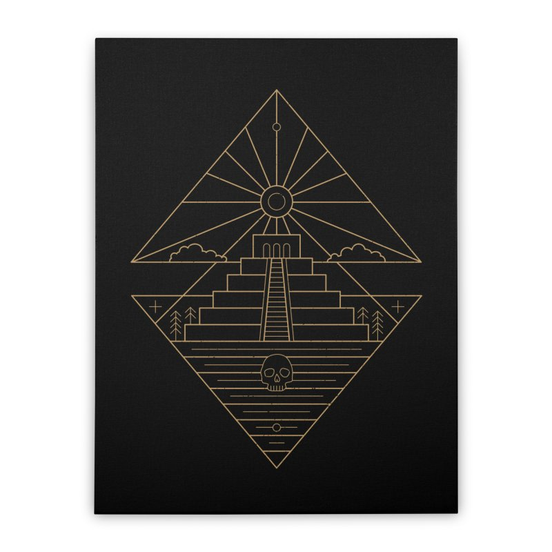 The Sun God Temple Home Stretched Canvas by heavyhand's Artist Shop