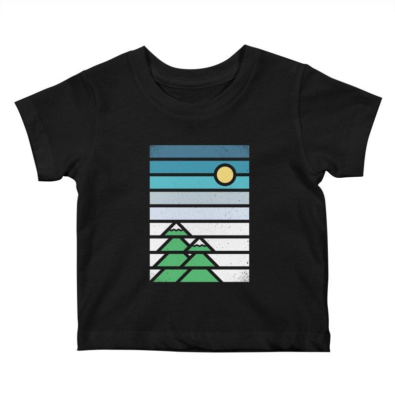 Alpine Sun Kids Baby T-Shirt by heavyhand's Artist Shop