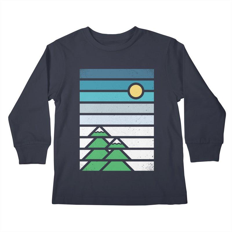 Alpine Sun Kids Longsleeve T-Shirt by heavyhand's Artist Shop