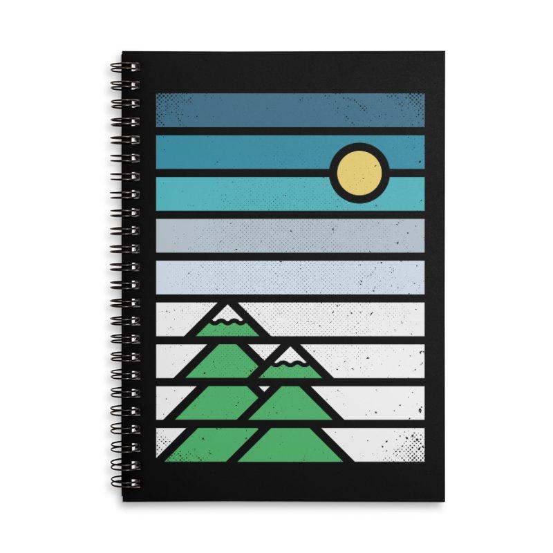 Alpine Sun Accessories Lined Spiral Notebook by heavyhand's Artist Shop