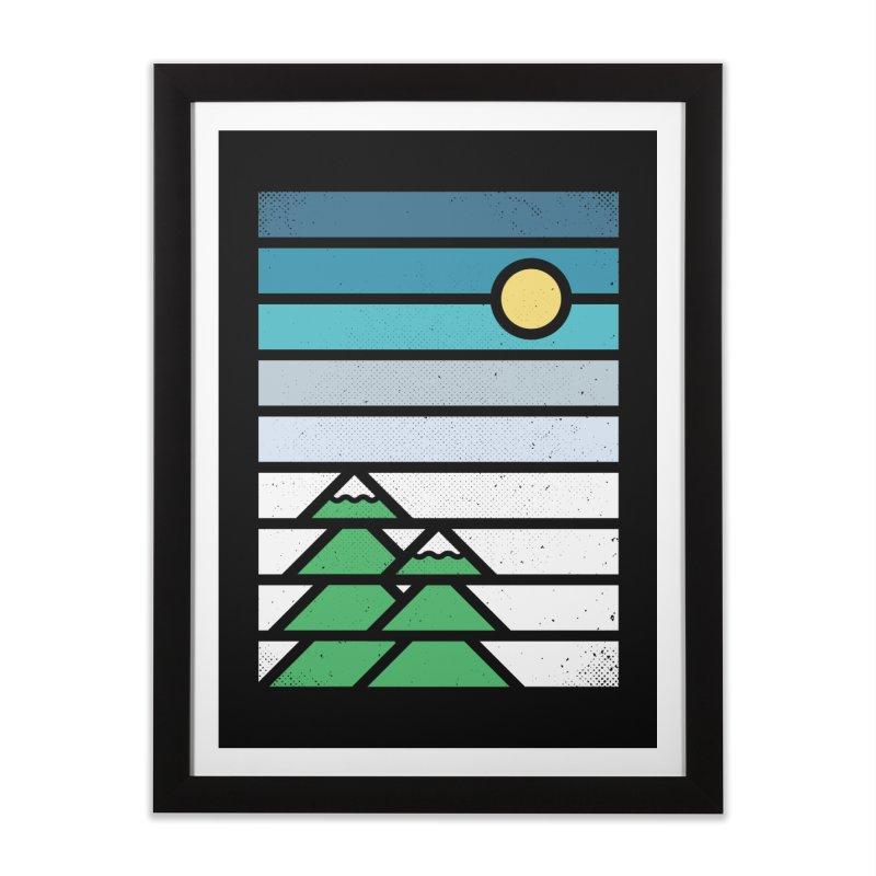 Alpine Sun Home Framed Fine Art Print by heavyhand's Artist Shop