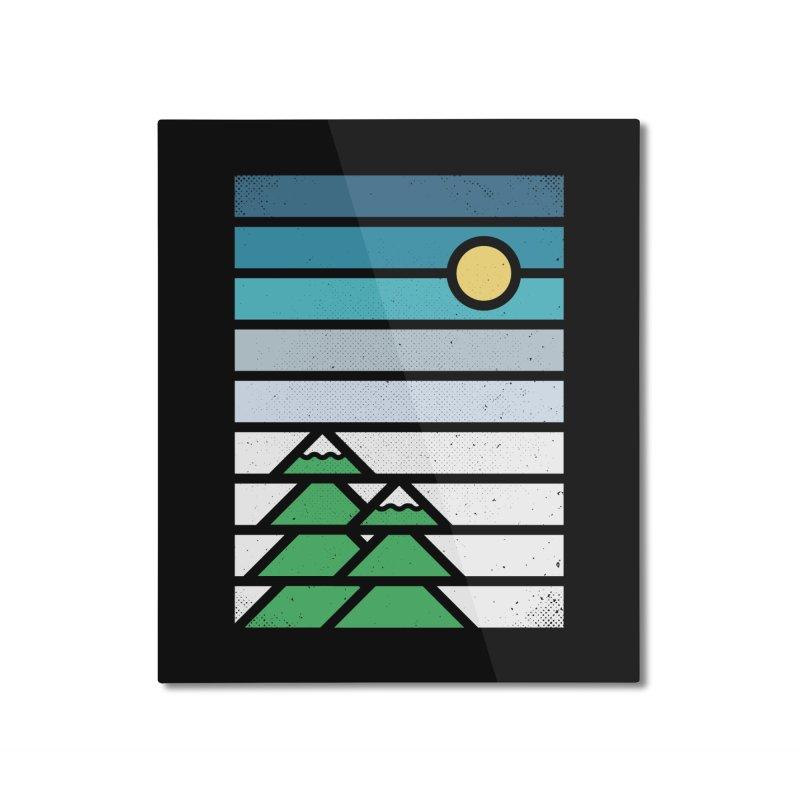 Alpine Sun Home Mounted Aluminum Print by heavyhand's Artist Shop