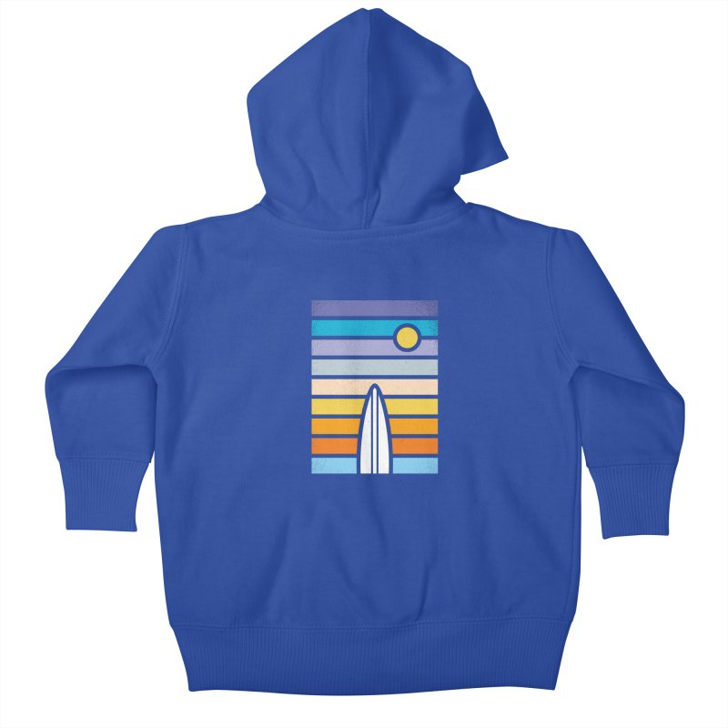 Surfs Up Kids Baby Zip-Up Hoody by heavyhand's Artist Shop
