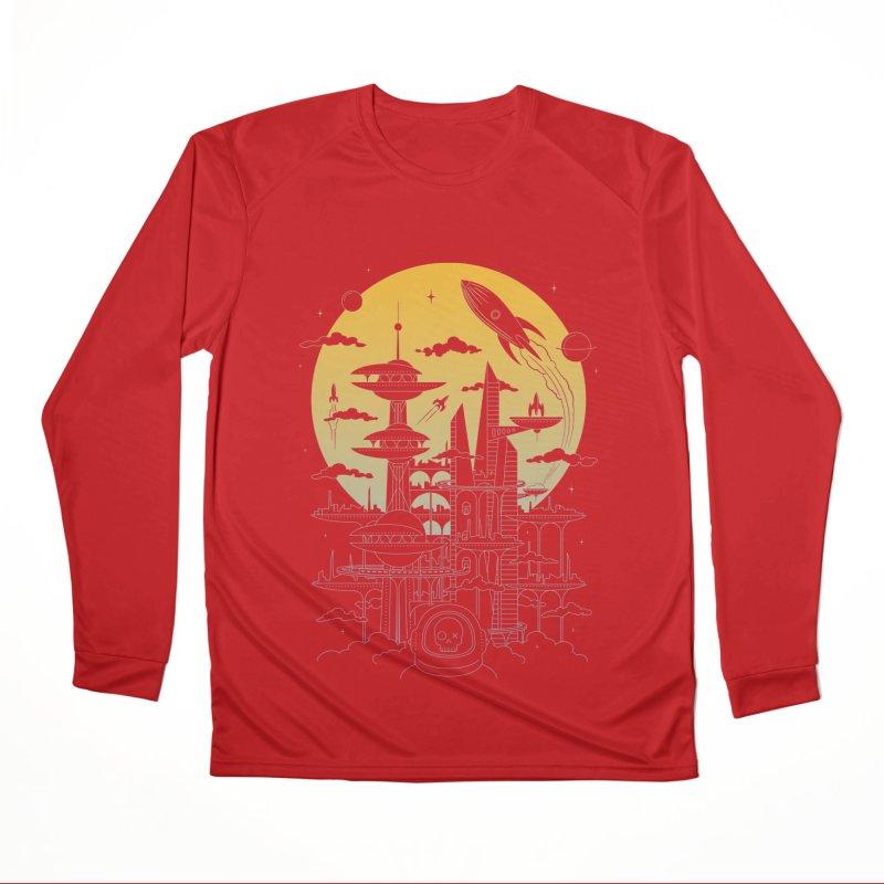 Solar City Men's Performance Longsleeve T-Shirt by heavyhand's Artist Shop
