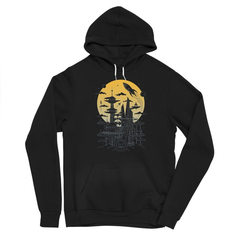 Solar City Men's Sponge Fleece Pullover Hoody by heavyhand's Artist Shop