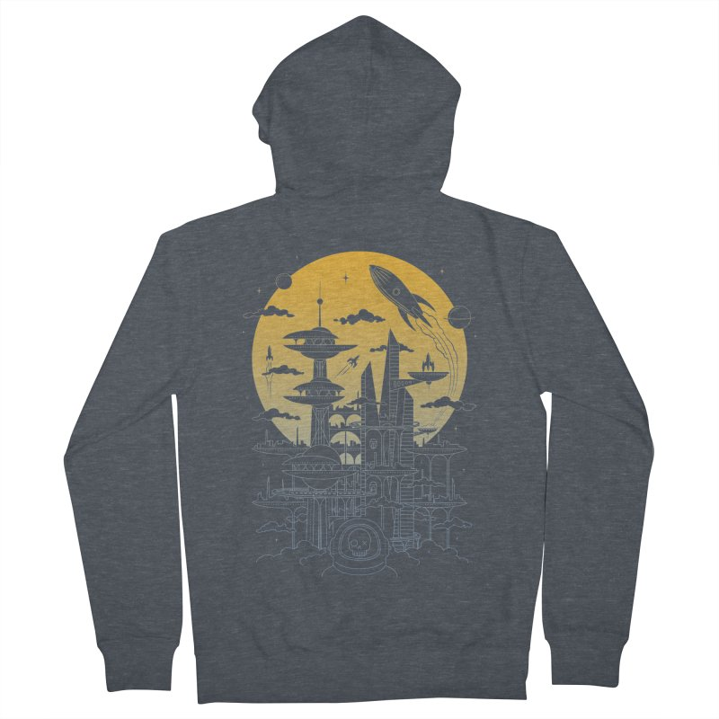 Solar City Men's French Terry Zip-Up Hoody by heavyhand's Artist Shop