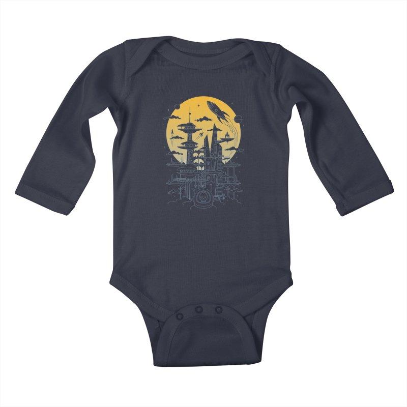 Solar City Kids Baby Longsleeve Bodysuit by heavyhand's Artist Shop