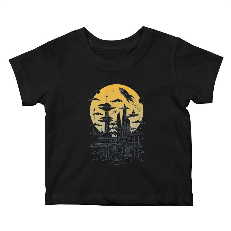 Solar City Kids Baby T-Shirt by heavyhand's Artist Shop