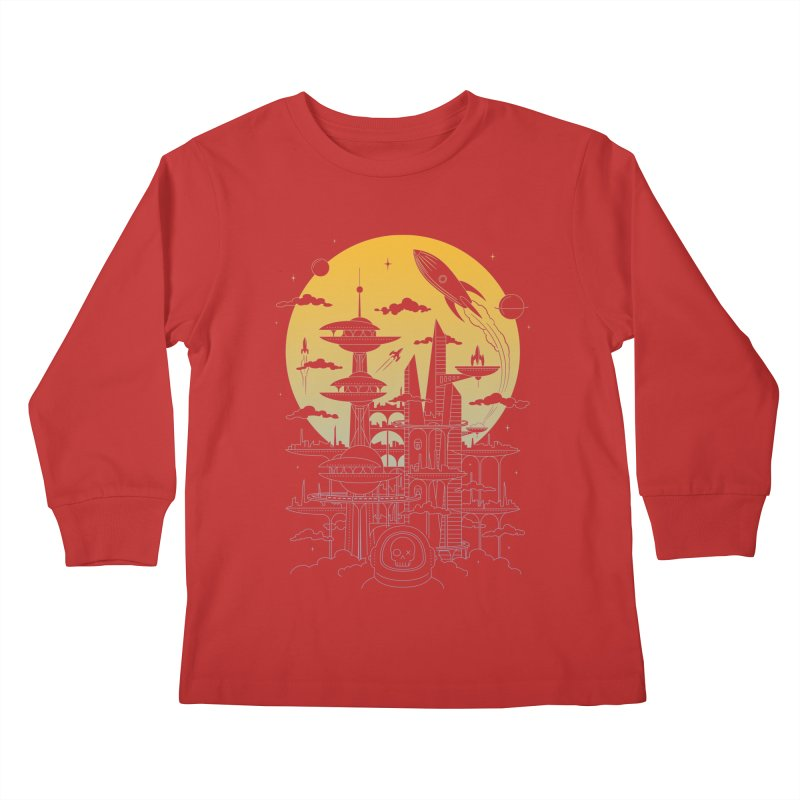 Solar City Kids Longsleeve T-Shirt by heavyhand's Artist Shop