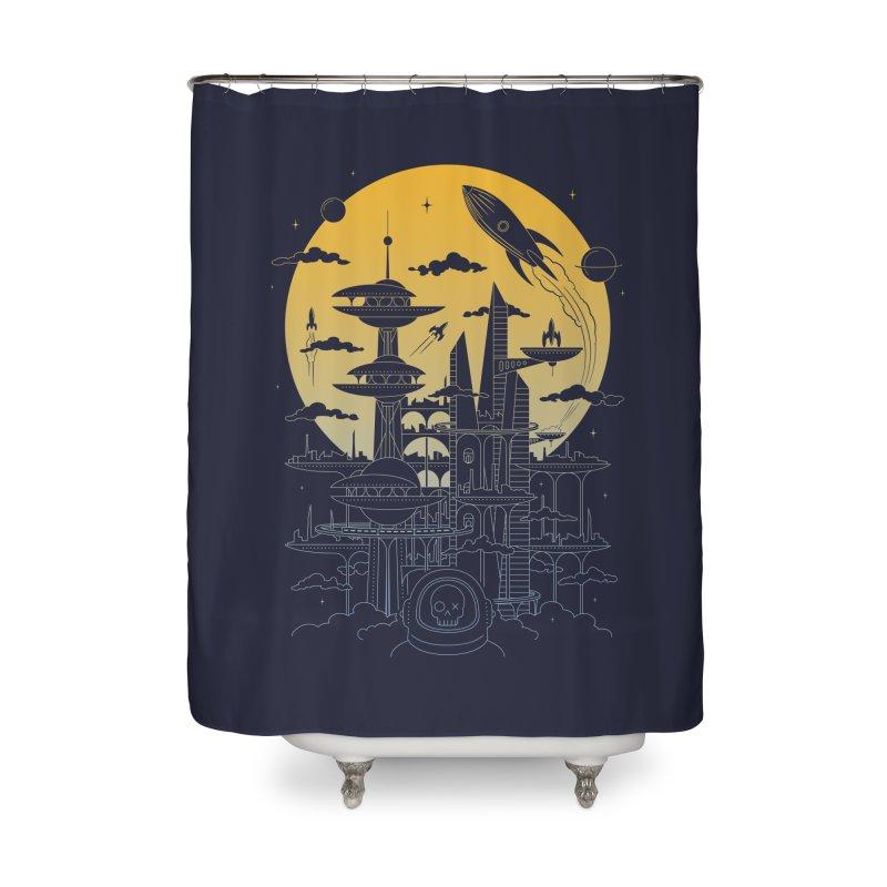 Solar City Home Shower Curtain by heavyhand's Artist Shop