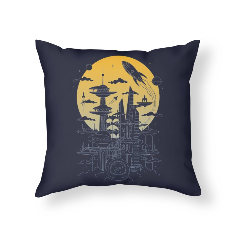 Solar City Home Throw Pillow by heavyhand's Artist Shop