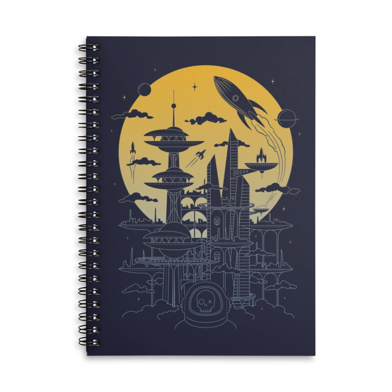 Solar City Accessories Lined Spiral Notebook by heavyhand's Artist Shop