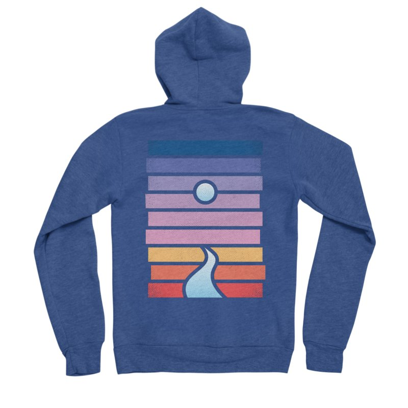 Moon. River. Women's Sponge Fleece Zip-Up Hoody by heavyhand's Artist Shop