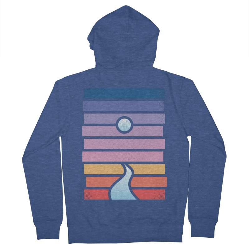 Moon. River. Men's French Terry Zip-Up Hoody by heavyhand's Artist Shop