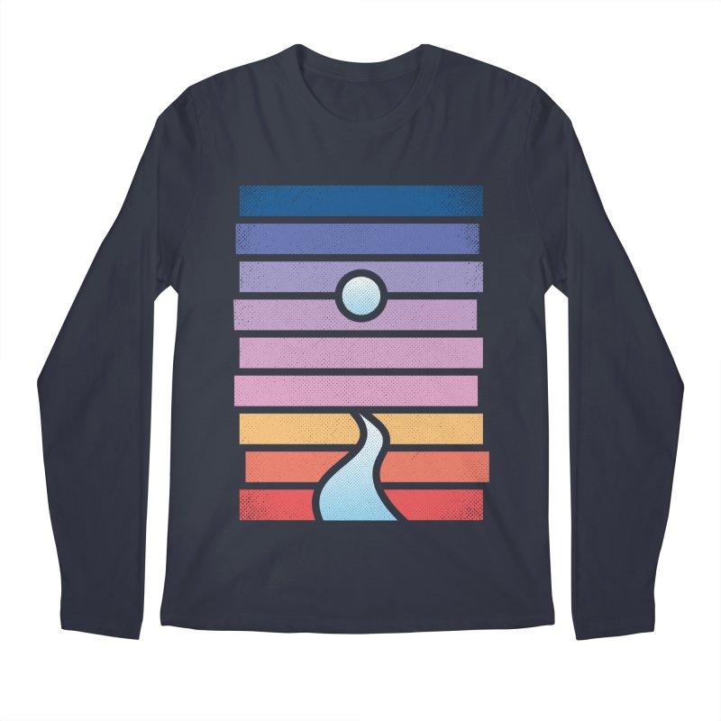 Moon. River. Men's Regular Longsleeve T-Shirt by heavyhand's Artist Shop