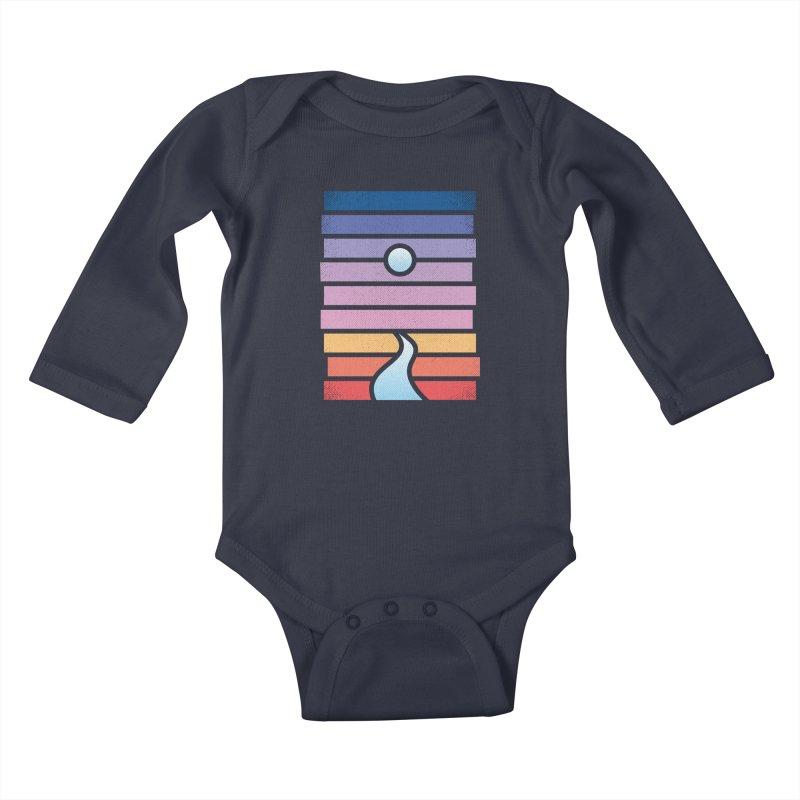 Moon. River. Kids Baby Longsleeve Bodysuit by heavyhand's Artist Shop