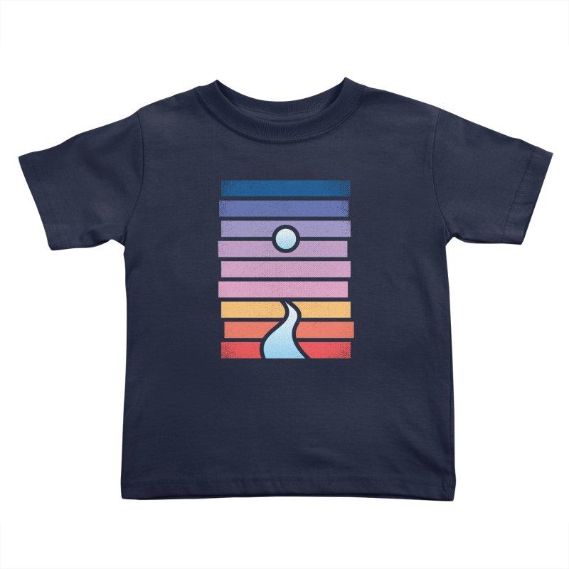 Moon. River. Kids Toddler T-Shirt by heavyhand's Artist Shop