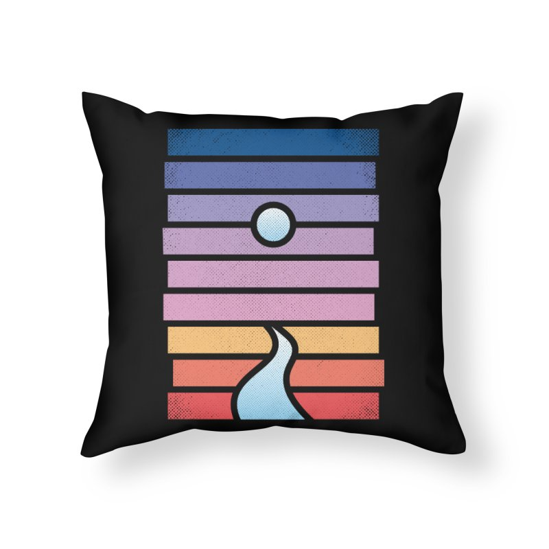 Moon. River. Home Throw Pillow by heavyhand's Artist Shop