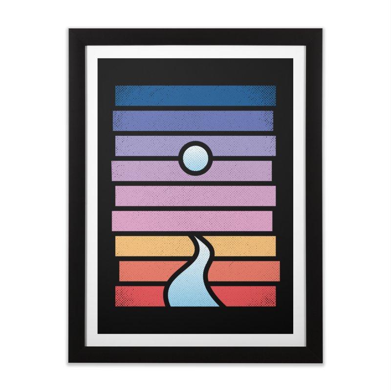 Moon. River. Home Framed Fine Art Print by heavyhand's Artist Shop