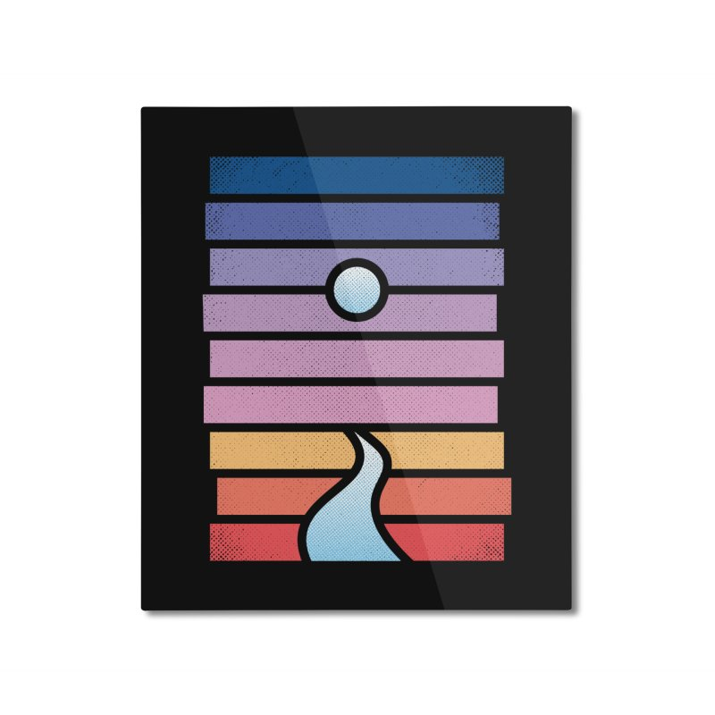Moon. River. Home Mounted Aluminum Print by heavyhand's Artist Shop