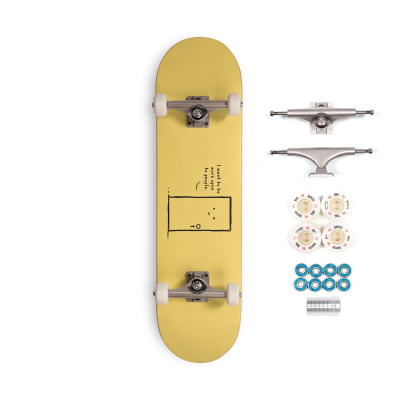 I want to be more open Accessories Complete - Premium Skateboard by heavyhand's Artist Shop