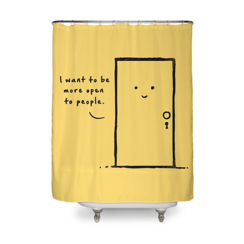 I want to be more open Home Shower Curtain by heavyhand's Artist Shop