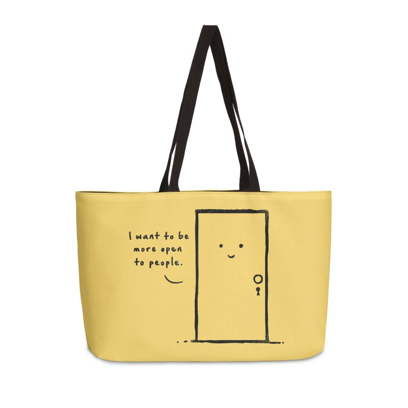 I want to be more open Accessories Weekender Bag Bag by heavyhand's Artist Shop