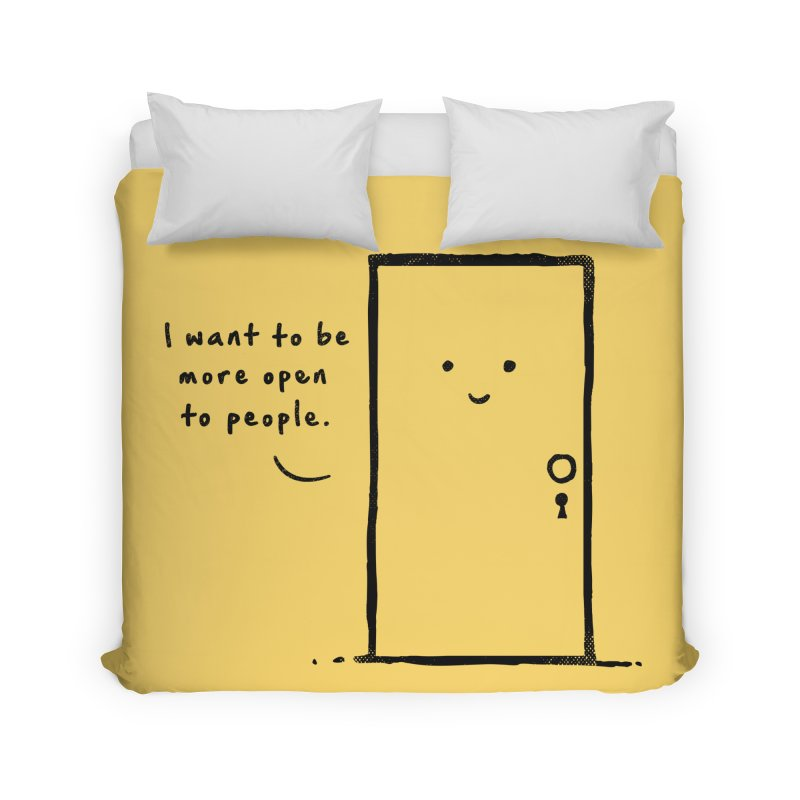 I want to be more open Home Duvet by heavyhand's Artist Shop