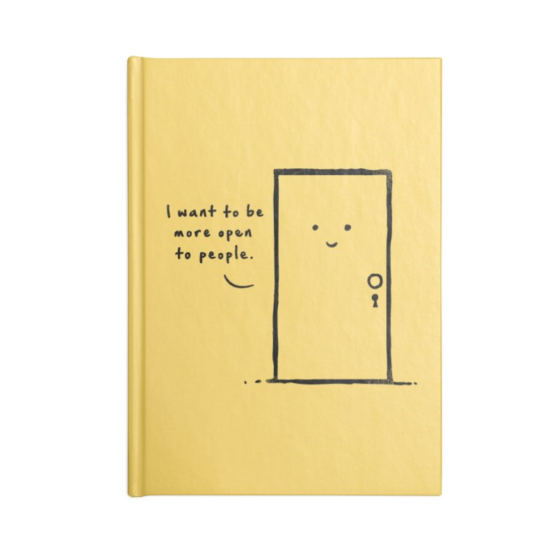 I want to be more open Accessories Blank Journal Notebook by heavyhand's Artist Shop