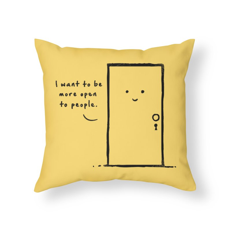 I want to be more open Home Throw Pillow by heavyhand's Artist Shop