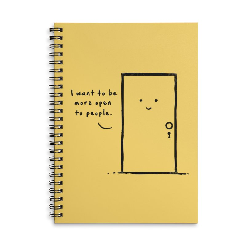 I want to be more open Accessories Lined Spiral Notebook by heavyhand's Artist Shop