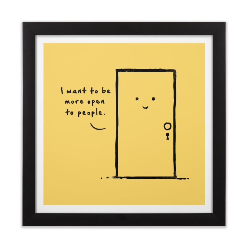 I want to be more open Home Framed Fine Art Print by heavyhand's Artist Shop