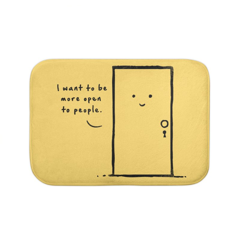 I want to be more open Home Bath Mat by heavyhand's Artist Shop