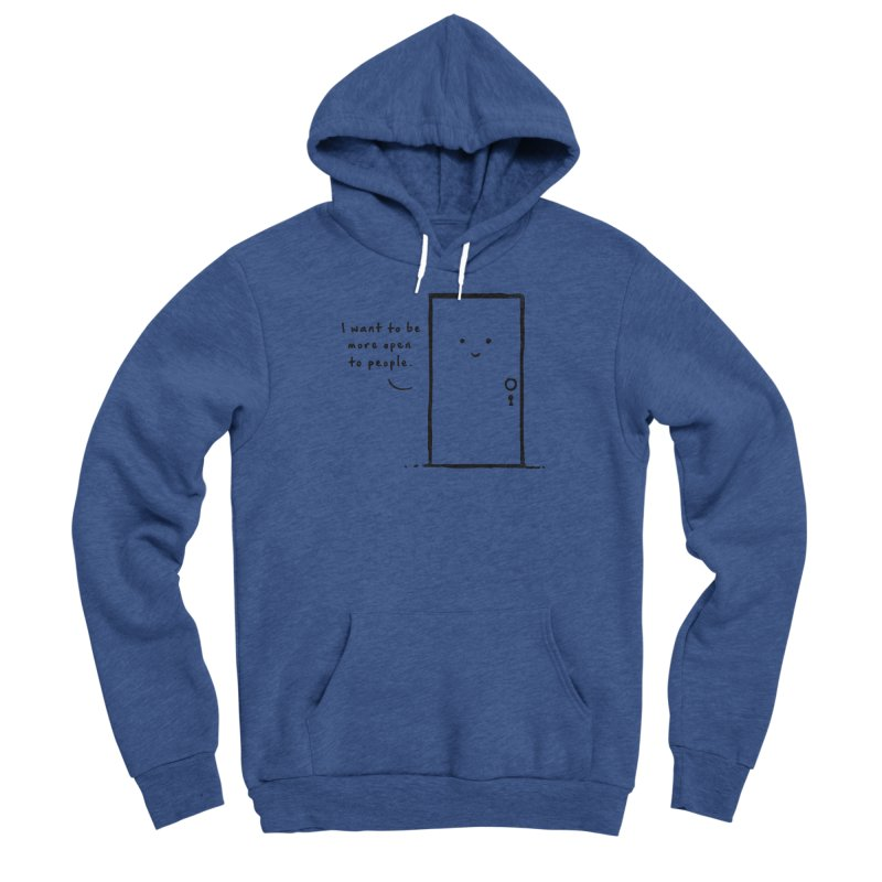 I want to be more open Men's Sponge Fleece Pullover Hoody by heavyhand's Artist Shop