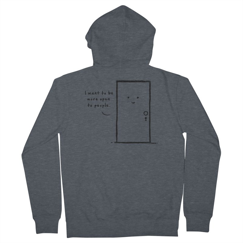 I want to be more open Men's French Terry Zip-Up Hoody by heavyhand's Artist Shop