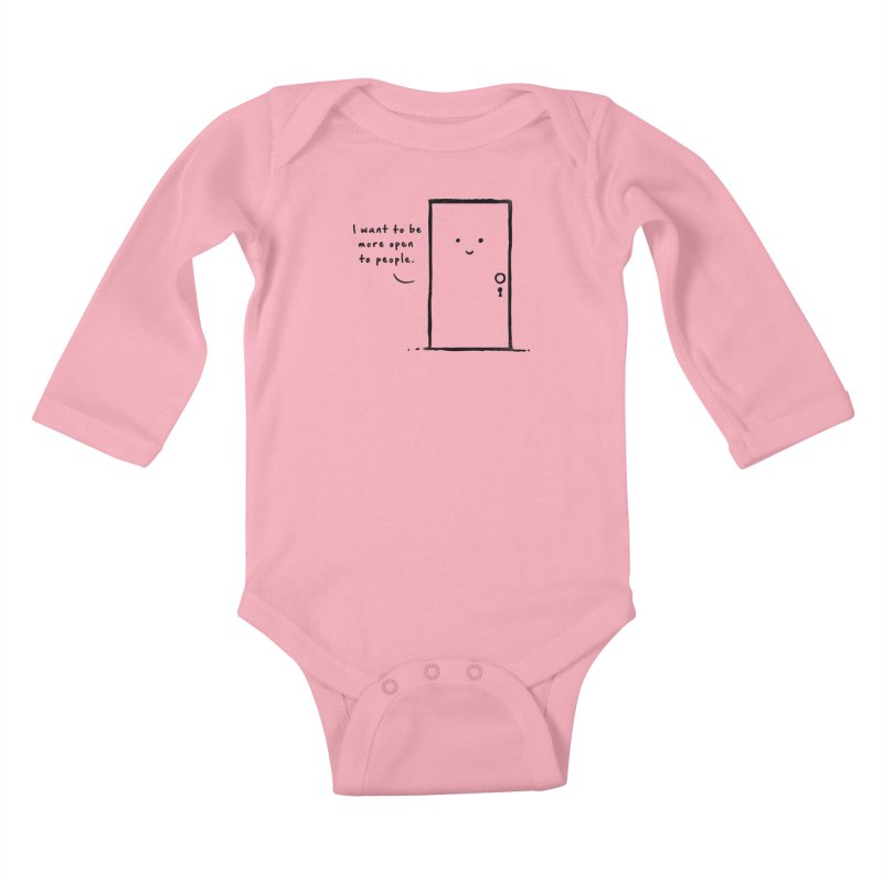 I want to be more open Kids Baby Longsleeve Bodysuit by heavyhand's Artist Shop