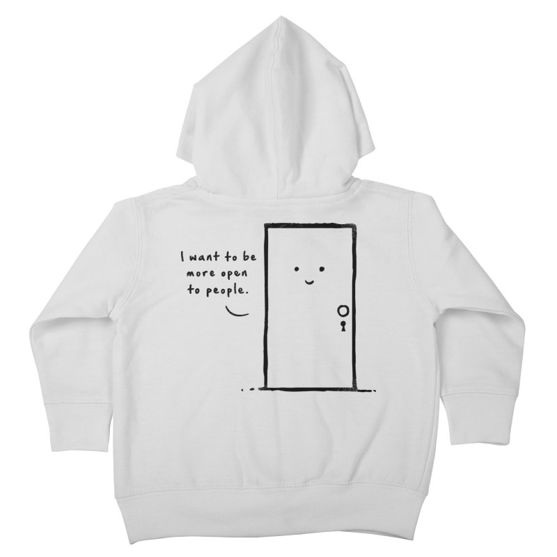 I want to be more open Kids Toddler Zip-Up Hoody by heavyhand's Artist Shop