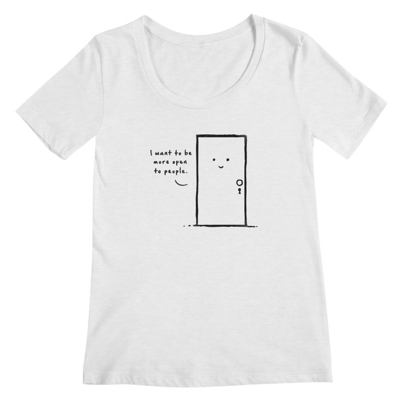 I want to be more open Women's Regular Scoop Neck by heavyhand's Artist Shop