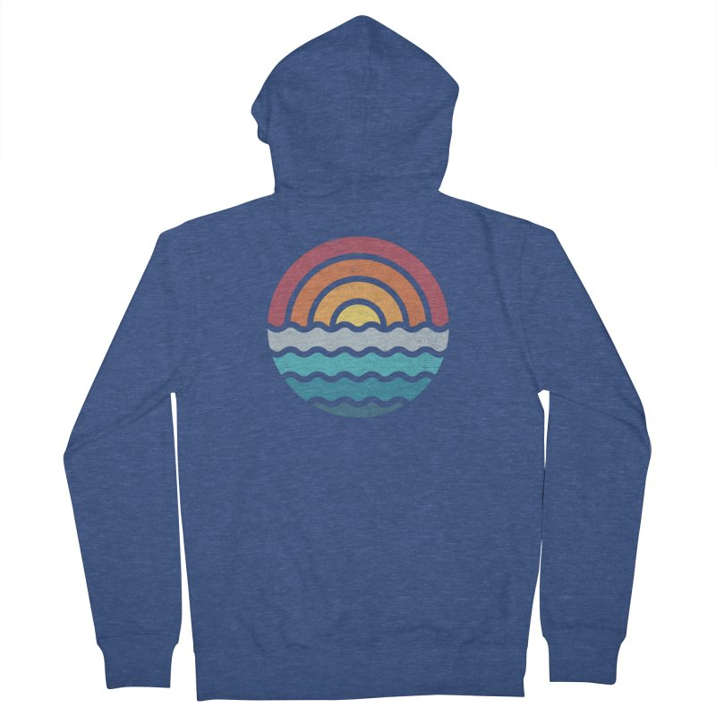 Out to sea Men's Zip-Up Hoody by heavyhand's Artist Shop